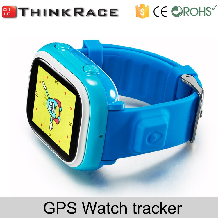 Global positioning satellite wrist phone watch phone for kids with gps tracker