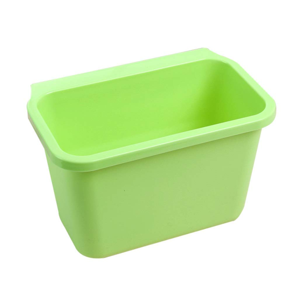 Simple Kitchen Hanging Trash Can Square Mini Car Creative Desktop Without Cover Plastic Household