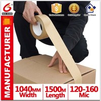 Easy tear heat resistant water Activate kraft paper tape