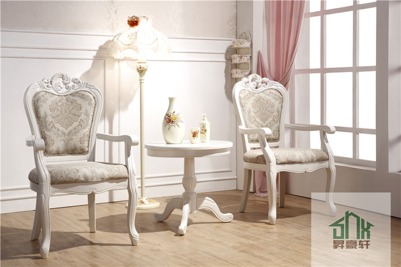 Wooden Round Table And Chair Set HB 601# Two Seater Table And Chair Set