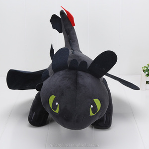 How To Train Your Dragon Night Fury Toothless 55cm Soft Plush Stuffed Doll Toy