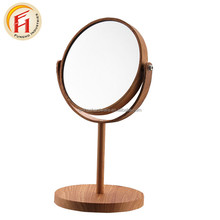 customized modern style round lighted desktop cosmetic makeup mirror professional with nice price