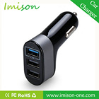 Promotional Customize Logo High Quality Fast Charge 5v 5.1A Safe 3 Port Micro Usb Car Charger