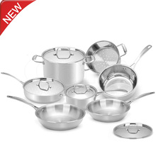 New Stainless Steel Cookware Set 12 Piece Pots & Pans Kitchen cookware for Home Cooking