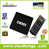 Cloudnetgo octa core tv box with s905 Amlogice chip smart box receiver support 4k android tv box codi