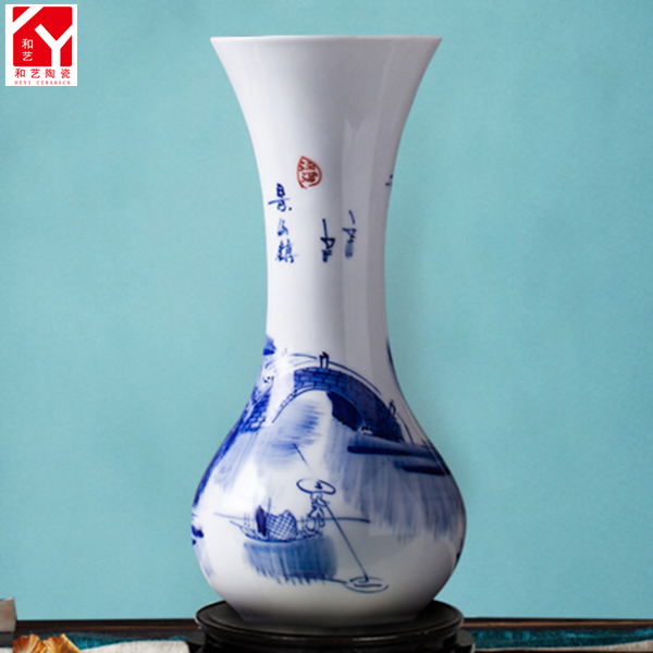 China porcelain mast painted pigmented ceramic diffuser vase
