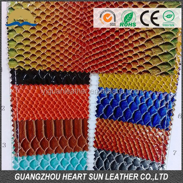 Shining solarium brust pattern leather for shoes supplier of pu