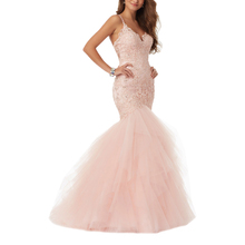 Spaghetti strap mermaid <span class=keywords><strong>prom</strong></span> dresses sexy kant wedding dress bridal gown <span class=keywords><strong>2019</strong></span> avondjurk
