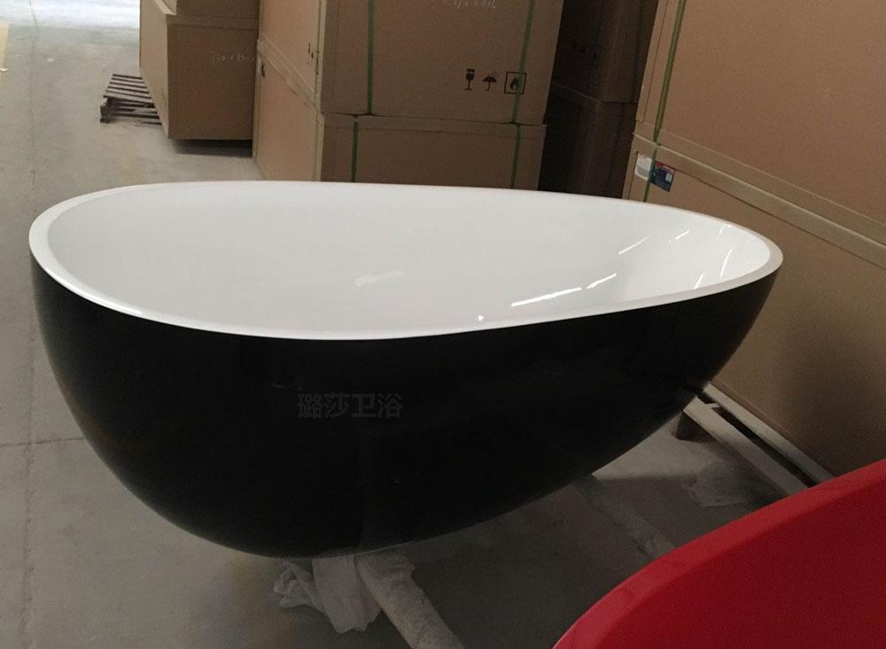 Vasche Da Bagno Acrilico Prezzi : Freestanding vasca in acrilico forma di uovo ovale vasca da bagno un