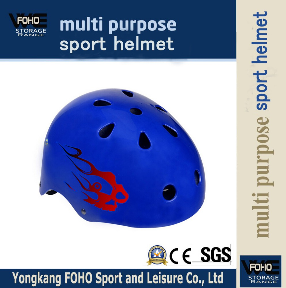 HE005 EPS inner and Protection blue printing sport safty helmet