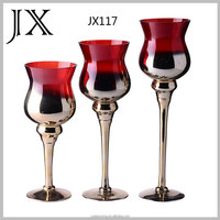cheap wine glass candle stand for wedding centerpieces