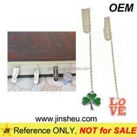 Manufacturer Custom Metal Enamel Pendant Charm Bookmark