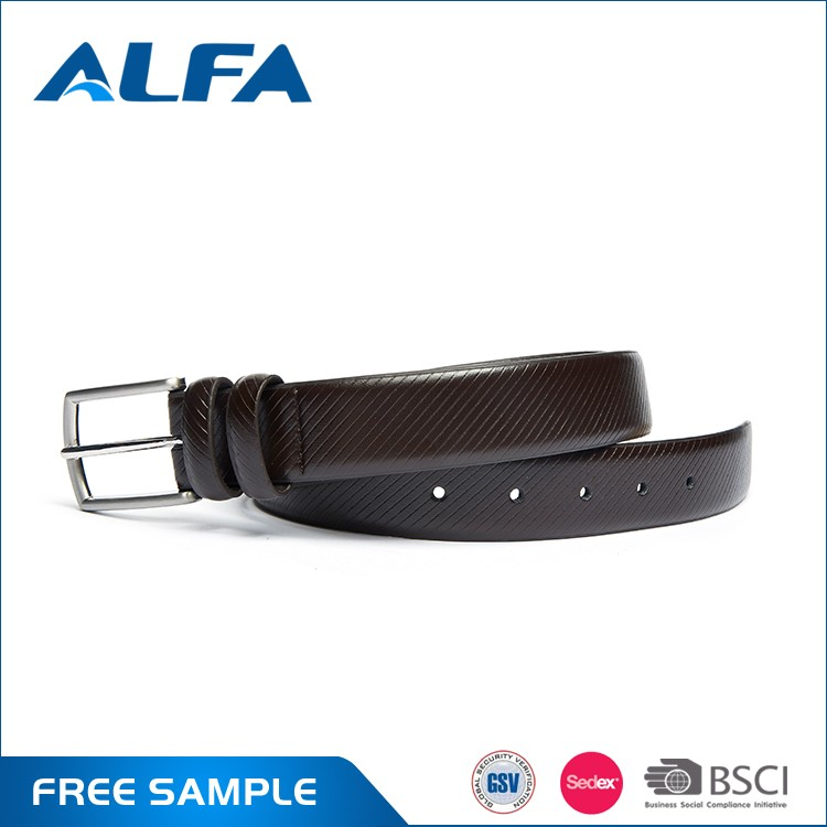 Alfa Manufacturing Company Fashion Cowhide Split Leather Belt Designer Belts For Men