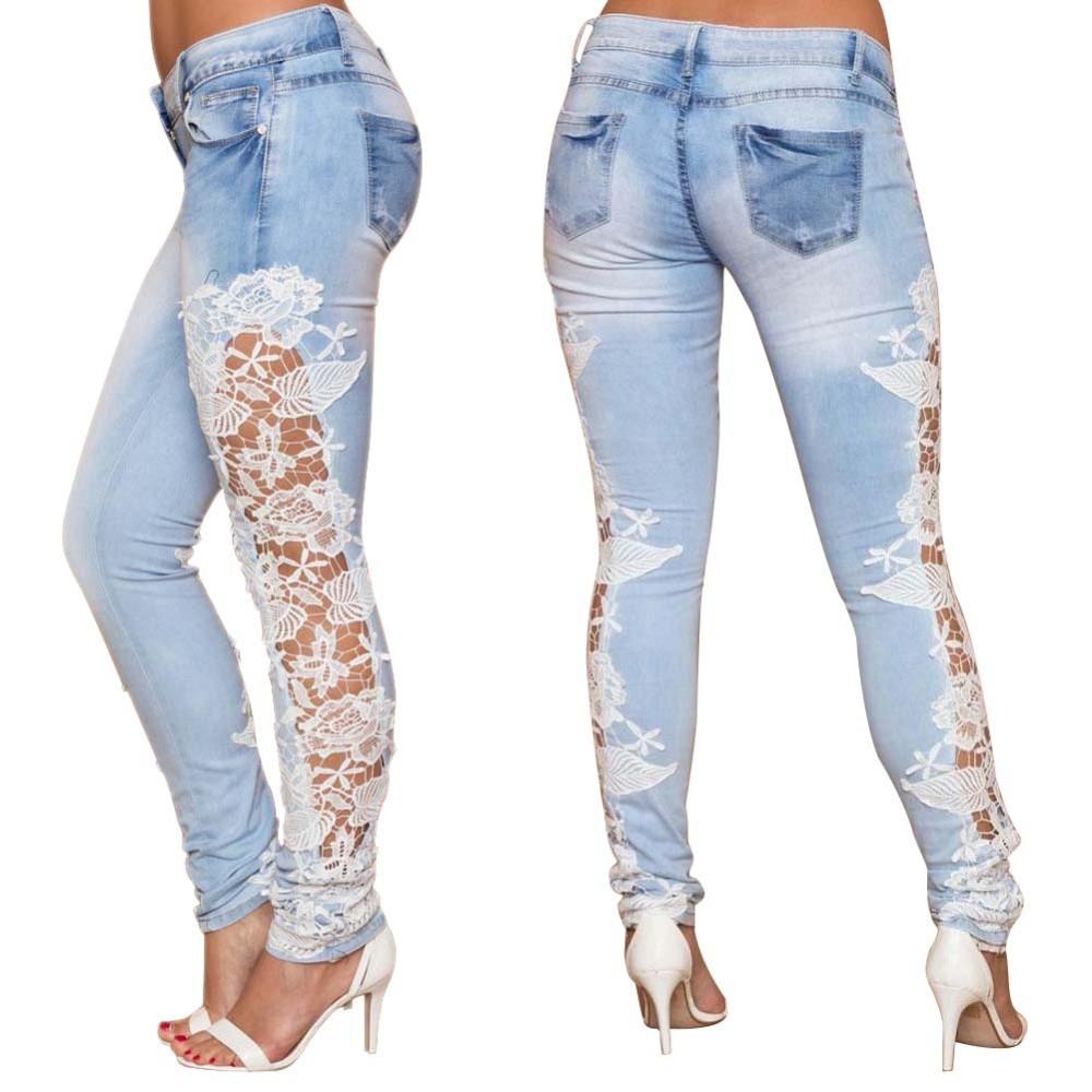 52e3b879fcc Купить Модные джинсы с вышивкой в интернет магазине с бесплатной ...