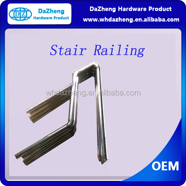 stainless steel prefab metal stair railing/handrail/balustrade