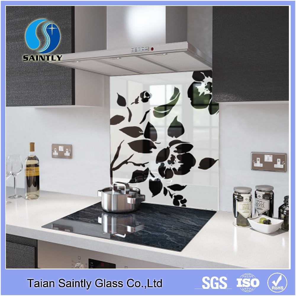4mm5mm Tempered Glass Kitchen Backsplash With Polish Edge