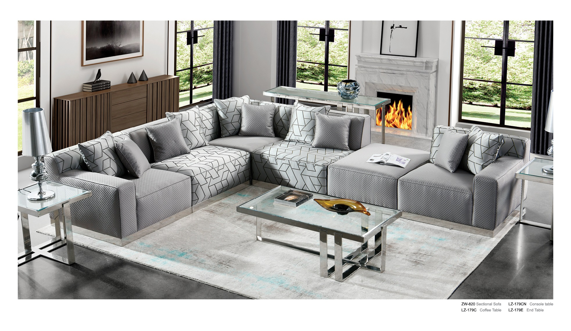Custom L Shaped Modern Simple Furniture Large Sectional Combination Sofa  For Living Room - Buy 3 Seater Upholstery Fabric Modern Sofa With Stainless  ...