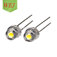5mm dip LED straw hat led White Color 6000-8400K led diode