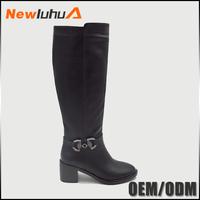 New design low price plain long boots women shoes winter