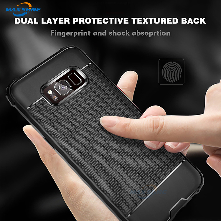 Maxshine High Protection  Rubik's Cube Texture Design TPU Case  For Samsung S8