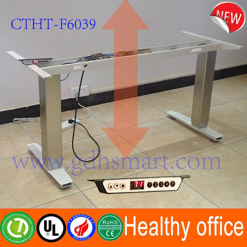 r 233 glable ordinateur bureau 233 lectrique hauteur permanent bureau cadre r 233 glable en hauteur en