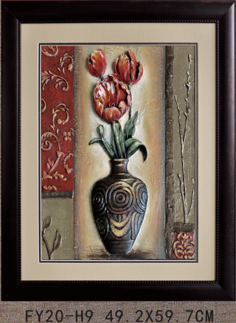 FY20-H9 3d printd flower vase painting designs with frame