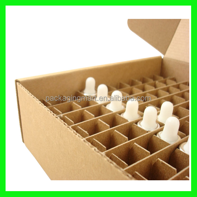 NZ116 Corrugated Shipped Dividers, Corrugated Cardboard Box Dividers, Foldable Paperboard Box with 100 Cell Divider