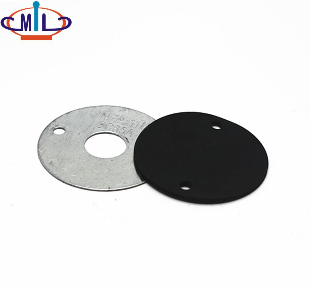 Round Black rubber gasket with two hole