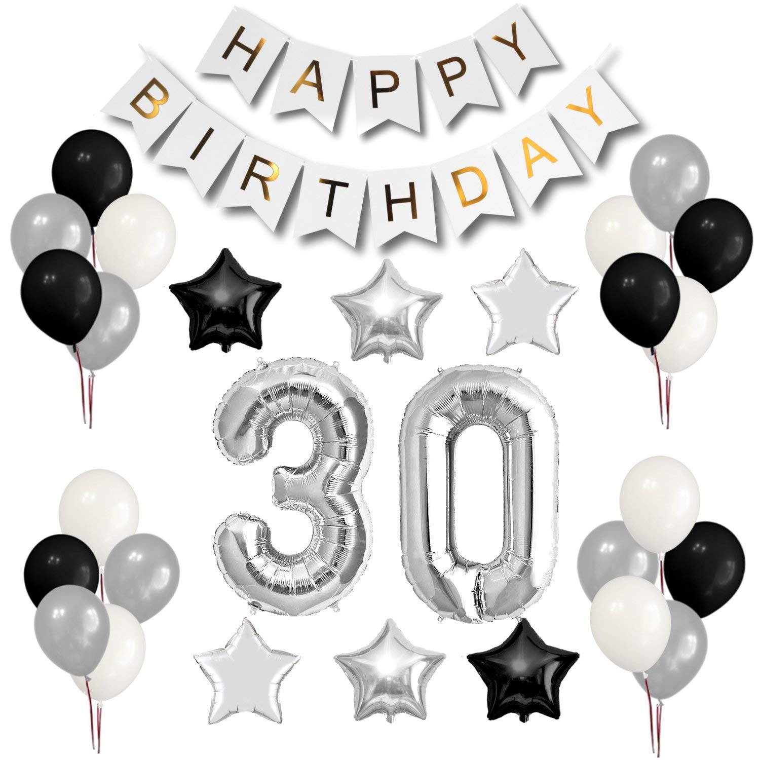 Cheap Birthday Black And White Party Decorations Find Birthday