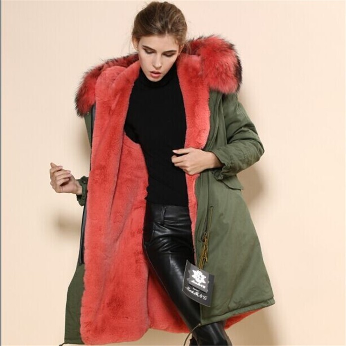 Well-known 2017 Wholesale Womens Military Green Long Parka Winter Watermalon  YB44
