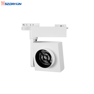 NEW Product Aluminum Anti-Glare 90Ra Dimmable 2 Wire 3 Wire 4 Wire 3000K 4000K 5000K 6000K COB Square 35W LED Track Light