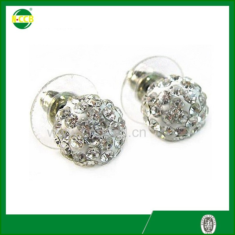 Ebay china website top sale cheap silver plated ear stud ear ring