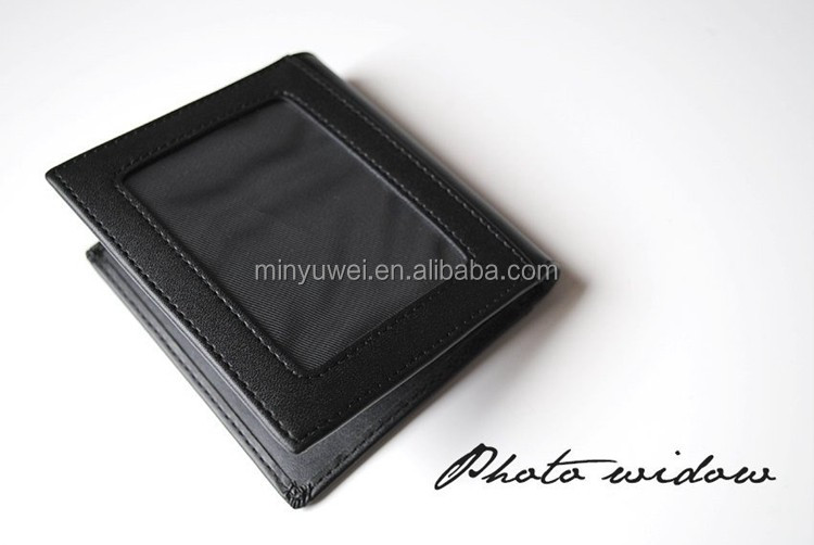 best man leather money clip with engraved Logo leather credit card holder wallet leather money clip men's gift