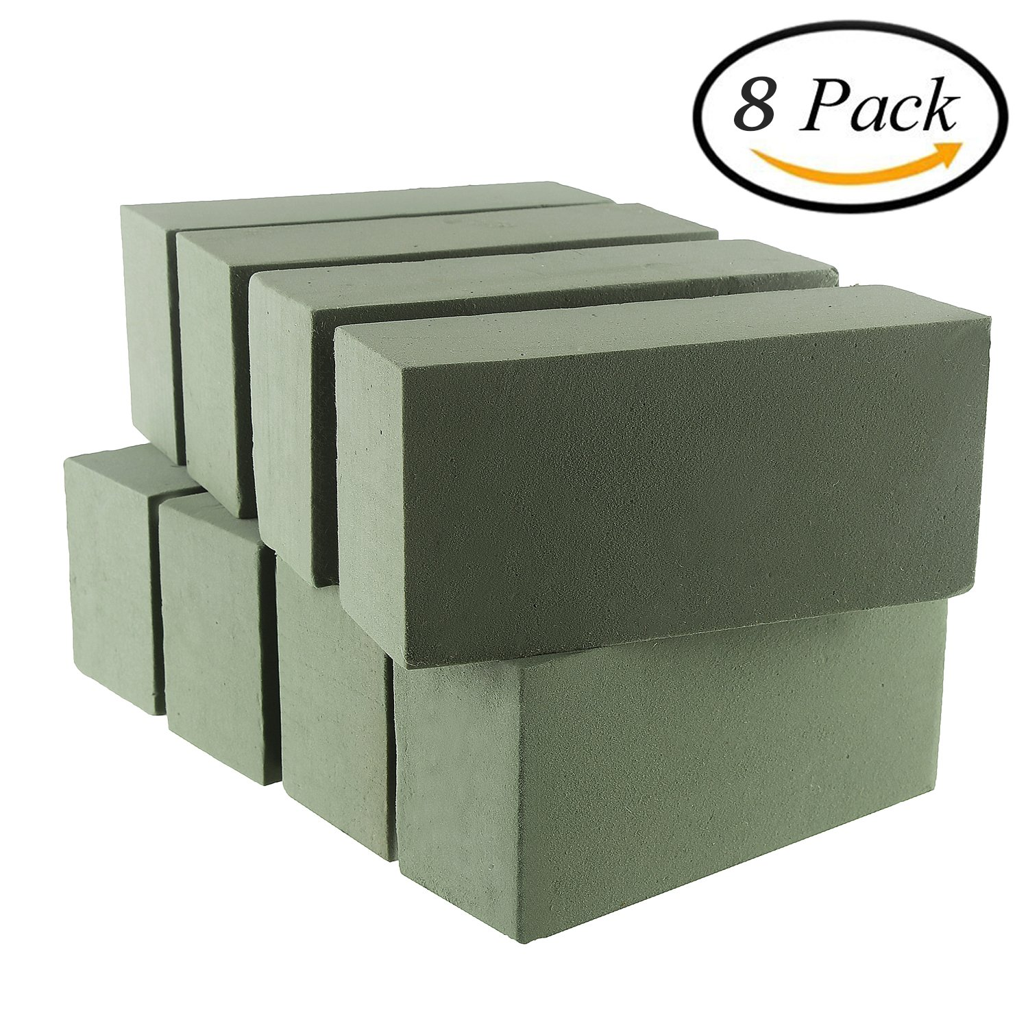VEYLIN 8 PCS Wet Floral Foam Bricks Green Styrofoam Blocks for Fresh Cut Floral Arrangements