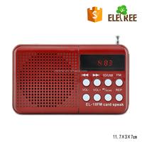 Digital Usb Fm Radio Player Red EL-16 fm radio for old people