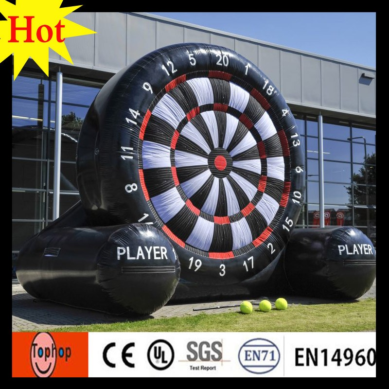 2017 new custom inflatable foot soccer darts for sale dartboard basketball challenge table football game target