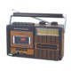 portable radio cassette recorder player with USB/SD input