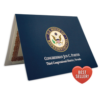 Customized metallic certificate leather Paper diploma cover pack