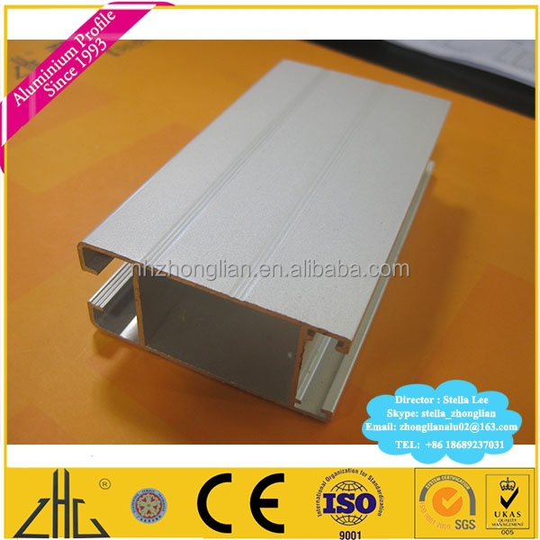 Wow!! OEM aluminium extrusion for sliding door wardrobe manufacturing factory/ aluminium slide frame/ aluminum profile rail