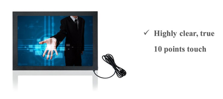 "32""/42""/43""/55""/65"" IR 10 points touch overlay for digital signage"