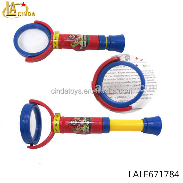 Multifunctional flexible magnifying glass whirl telescope toys physics tool toy