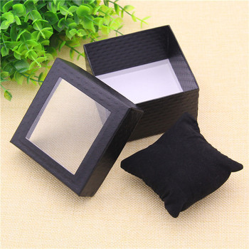 Art paper packaging cheap jewelry organizer watch boxes with big window