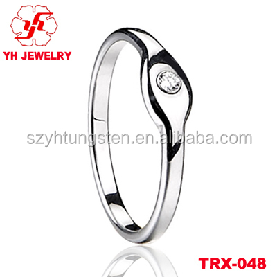 Fashion Diamond Engagement Wedding Rings Tungsten Diamond Rings
