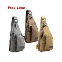 Hot Sale Vintage Men Canvas Satchel Casual Crossbody Handbag Messenger One Sling Chest Bag Shoulder Bag