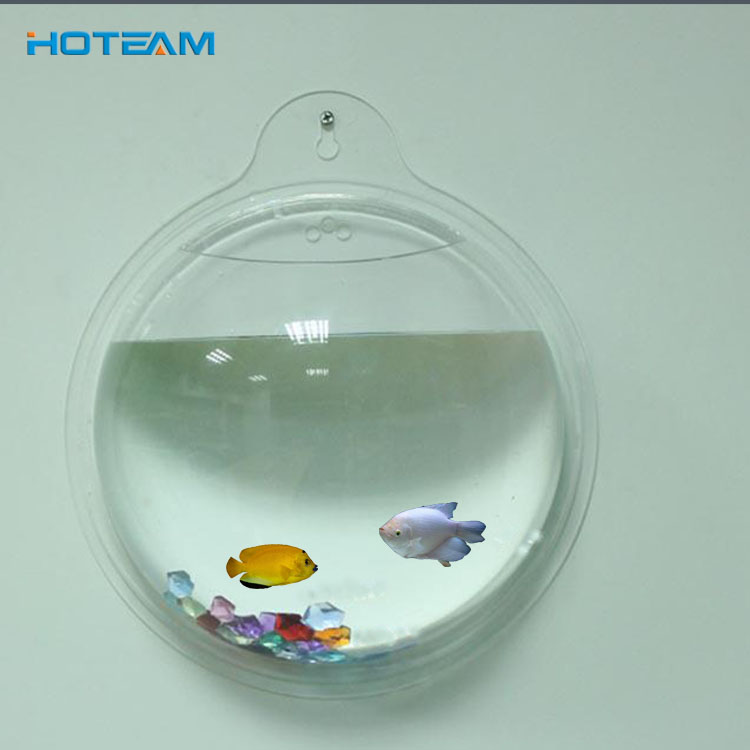 Custom Kleine Ronde Acryl Plastic Aquarium Ornament Fish Tank