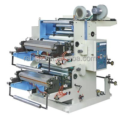 YT-2800 two colors roll to roll flexo printing machinery