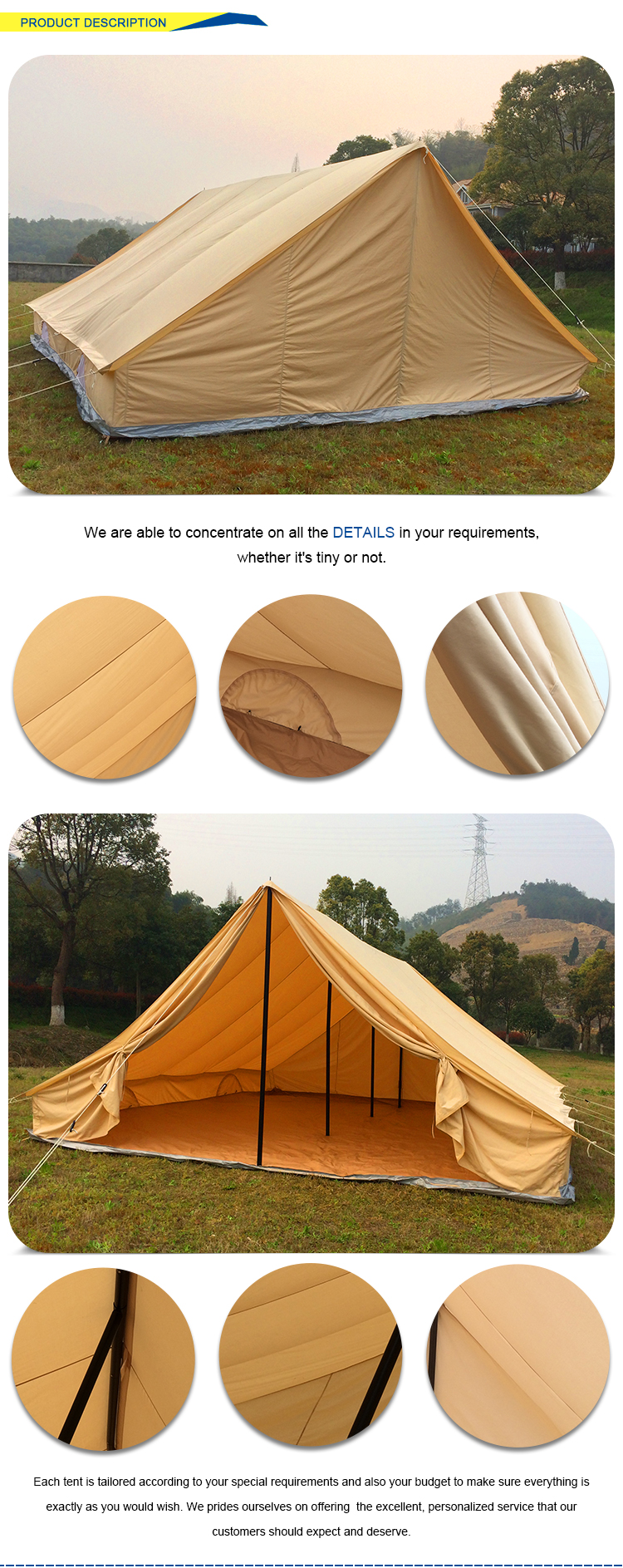 Good-material tent pole parts large event tents for sale