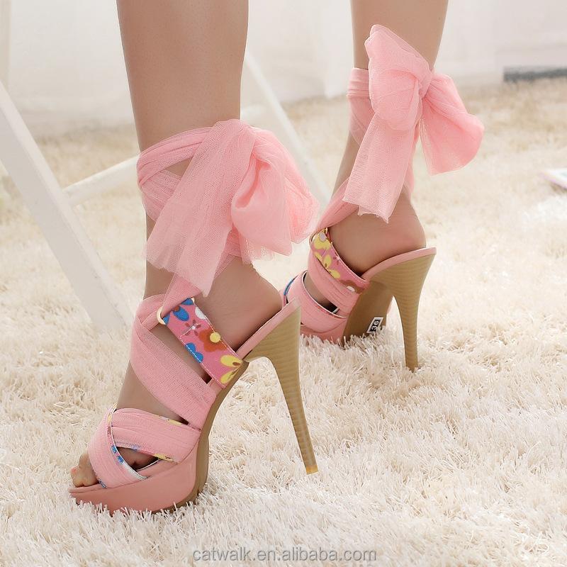 High Wedge Sandals Ladies High Heel Fancy Sandals /woman Sandals ...