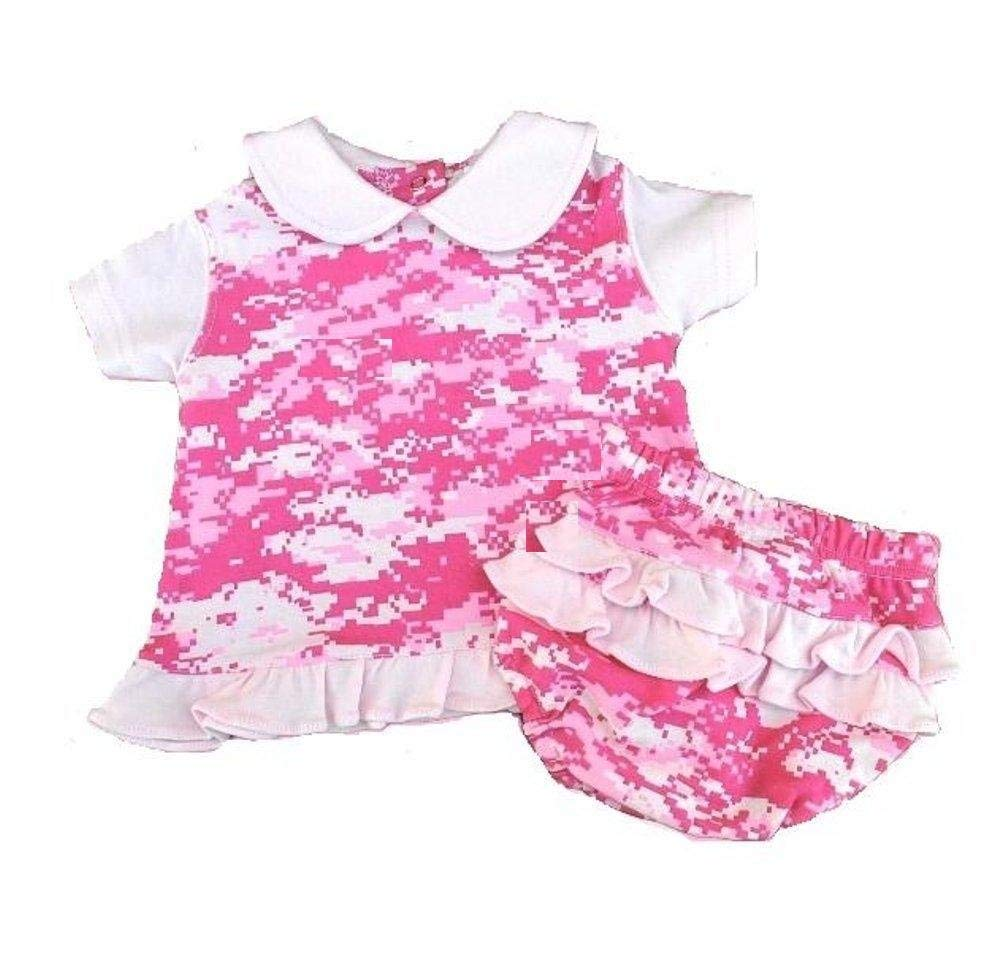 9335d85acbb2 Get Quotations · 2 pc Pretty Pink Digital Camo Dress with Ruffled Panties  BABY INFANT (9-12