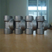"5"" Equal tee reducer tee butt-welding carbon steel fitting pipe ANSI B16.9 ASTM A234 WPB BEVELLED END pipe fitting 5"""